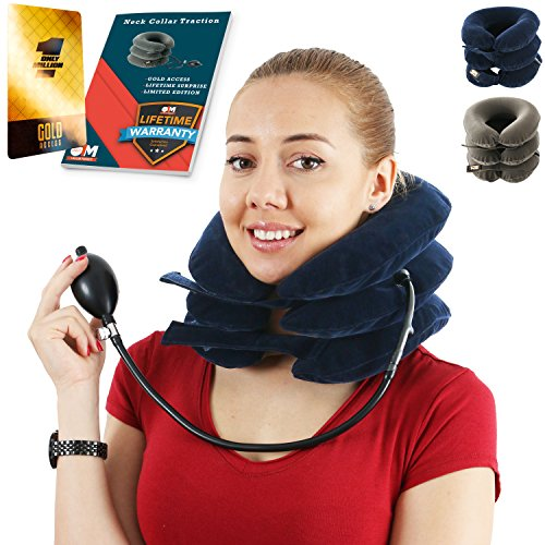 Cervical Neck Traction Device for Men and Women – Inflatable Collar...