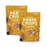Contains 2 - 9.5 Ounce Bags of Everything flavored ParmCrisps ParmCrisps are artisan-crafted, crunchy crisps made of 100% Aged Parmesan cheese and premium seasonings. Oven-baked in small batches, ParmCrisps have no artificial growth hormones, flavors...
