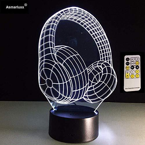 Luces Decorativas Para El Hogar Lámpara De Escritorio 3D Auriculares...