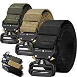 QINGYUN 3 Pack Tactical Belt,Military Style Belt, Riggers Belts for Men