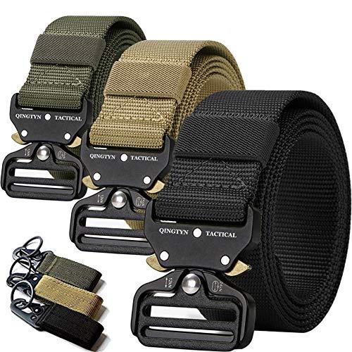 3 Pack Tactical Belt,Military Quick Release Belt, Riggers Belts for Men