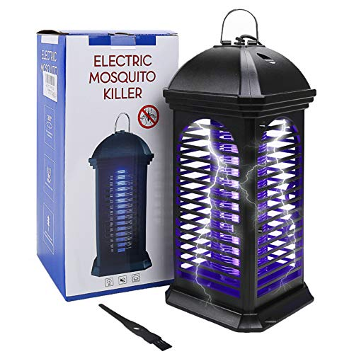 Micnaron Bug Zapper Electric Indoor Insect Killer suspensible UV Light | Mosquito Killer Bug Fly Pests Attractant Trap Zapper Lamp w/Powerful 1000V Grid for Indoor Home Bedroom,Kitchen, Office (2021)