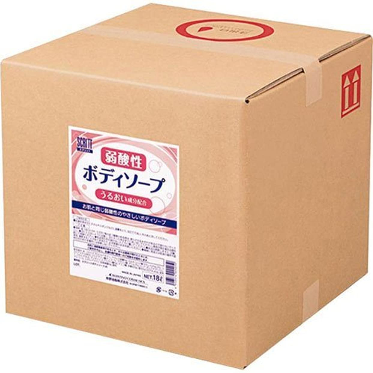 たっぷりストローク模倣熊野油脂 業務用 SCRITT(スクリット) 弱酸性ボディソープ 18L