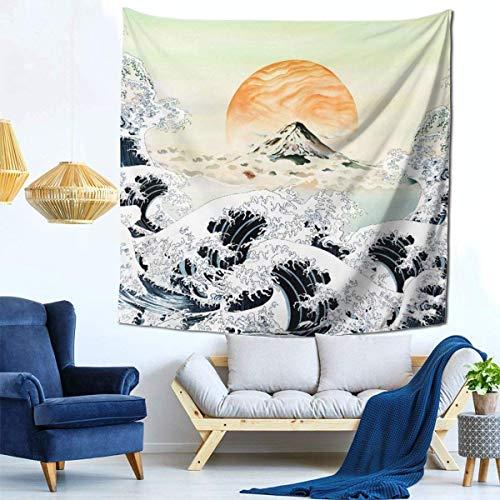 Tapices Coloridos y Variados, Lujoso Tapiz de Pared atmosférico Tapiz Tapiz Colgante de Pared Dormitorio Decorado Sala de Estar Dormitorio (59 x 59 Pulgadas) - diseño Original japonés