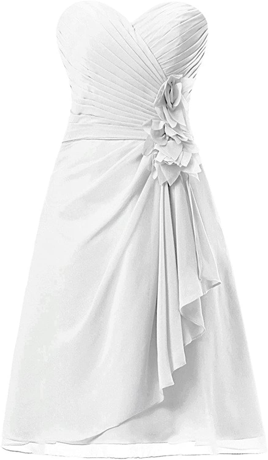 HONGFUYU Strapless Short Bridesmaid Dresses Prom Dress Evening Party Gowns