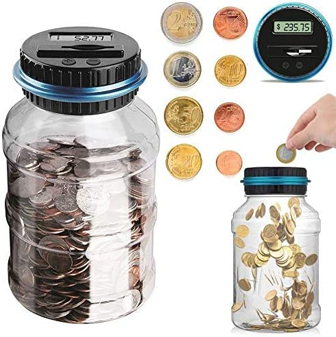 Coin Piggy Bank Savings Bank Jar Digital Coin Money Bank Coin Counter Storage for Kids Adult product image