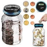 Digital Coin Bank Jar Coin Counter Storage, Canadian Coin Piggy Saving Bank, 1.8L