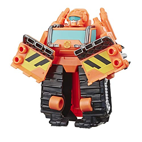 Transformers Playskool Heroes Rescue Bots Academy Wedge The Construction-Bot Converting Toy, 4.5' Figure, Toys for Kids Ages 3 & Up