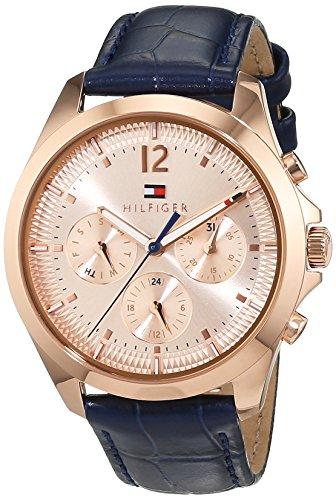 Tommy Hilfiger Damen Analog Quarz Uhr mit Leder Armband 1781703