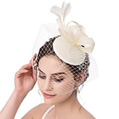 Material: High Quality Mesh gauze and feather Details: designed with alligator hair clip to keep the hat in position and easy to wear. Of course, please contact us for change one if you received the goods are damaged or wrong. One size fit most women...