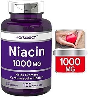Niacin 1000mg 100 Capsules | Non-GMO, Gluten Free | Vitamin B3 | by Horbaach