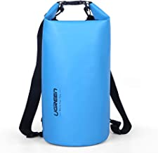 UGREEN Dry Bag Rucksack Waterproof Pouch Stuff Sack Dry Pouch 10L Backpack Shoulder Bag with Double Adjustable Straps for Boating Kayaking Motorcycling Canoeing Swimming Camping Hiking Snowboarding