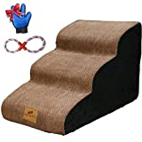 A.FATI 3 Tiers Foam Dog Ramps/Steps, Dog...