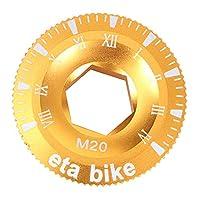 #N/A マウンテンロードバイクBBアクスルチェーンセットクラックカバーボルトキャップM20アクセサリー - ゴールデン, 説明したように