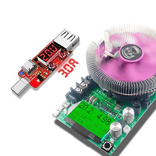 KAIBINY Módulo de + Fast los Controladores de Carga de la Junta de Disparo Digital del amperímetro del voltímetro del probador de Instrumento automático 150W Constante Carga de Corriente
