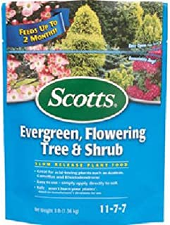Scotts Continuous Release Evergreen Flowering Tree and Shrub Fertilizer, 3-Pound (Not Sold in Pinellas County, FL)