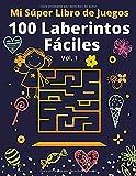 Mi Súper Libro de Juegos: 100 Laberintos Fáciles Vol 1. Edición Especial con Dibujos para...