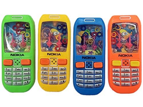Pack de 10 Phone Style - Juegos interactivos de lanzamiento de anillos de agua, rellenos de bolsas de fiesta ideales / rellenos, juguete de alivio de fidget / estrés , pasar los premios de la parcela.