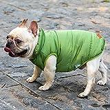 BCASE, Chaleco para Mascota, Ropa de Invierno Cálida y Resistente al Frío, Interior con Forro Acolchado, Ropa para Gato, Ropa para Perro, Color Verde. Tallas S, M, L y XL