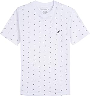 Nautica Boys' Short Sleeve Printed V-Neck Tee