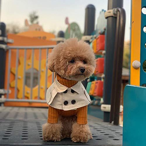 Huaxingda Babero para Perros - Linda Toalla De Saliva para Mascotas - Capa Cortavientos con Babero Rígido De Estilo Británico para Mascotas Tamaño Ajustable Suave Y Agradable para La Piel