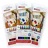 Pennarello in porcellana Edding 4200, 3 x 6, 1-4 mm, Family, caldo, Cool-Colour Set