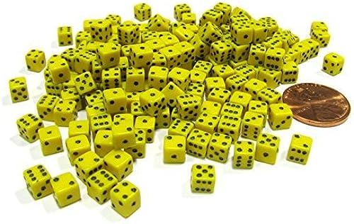 tienda en linea 200 Six Sided D6 5mm .197 Inch Inch Inch Die Small Tiny Mini Miniature amarillo Dice by Koplow Games  más vendido