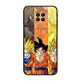 phpkim88 Matte Black Thin Protection Soft TPU Shockproof Case Cover For XIAOMI Redmi Note 9 Pro 5G/Mi 10T Lite At Super At Saiyan Dragon At Ball 7