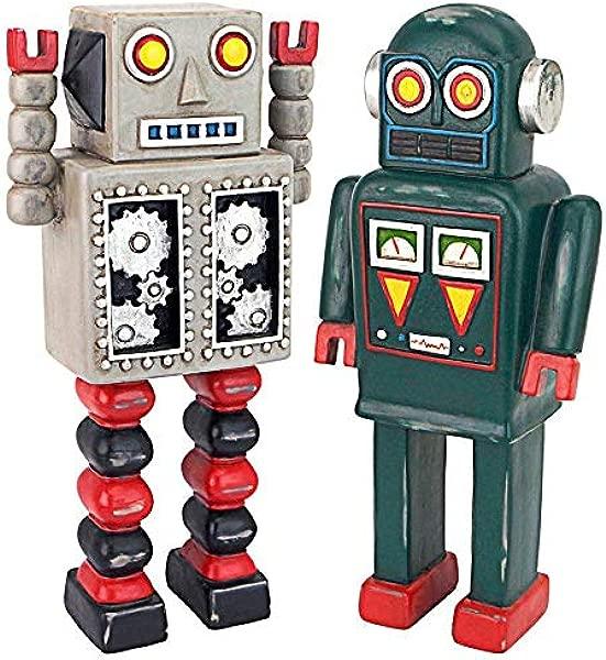 Design Toscano Retro Robot Collection Statue 10 Full Color