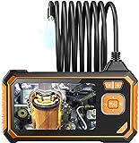 YYHAD Endoscopio Portátil, Cámara de endoscopio de 8 mm 720p de 4.3 Pulgadas Cámara de inspección de Pantalla con Monitor Handheld IP67 Cámara con 6 LED Boroscope, 1M (Size : 1M)