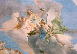 kunst für alle Art Print/Poster: Giovanni Battista Tiepolo Allegorie des Frühlings Picture, Fine Art Poster, 39.4x27.6 inch / 100x70 cm