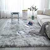 ZXGQF Shaggy Rug For Living Room, Modern Non-Slip Super Soft Long Fluffy Pile Rug 160*200cm Water...