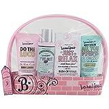 Gloss - Estuche grande de baño, caja de regalo para las mujeres - Kit de Baño juvenil - Beautyous - Karité, Vainilla y Mentha Citrata - 4 pzs