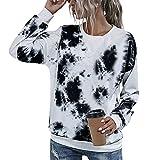 Grebest Blusa Suelta Suéter Colorido Señora Camisa Fabuloso Negro XL