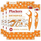 Plackers Orthopick Dental Floss Picks for Braces, 36 Count (Pack of 4)