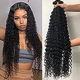 Brazilian Human Hair Deep Wave Bundles (24 22 20) Wet and Wavy Bundles 10A Unprocessed Virgin Deep Wave Curly Hair Weave Bundles (20 22 24)