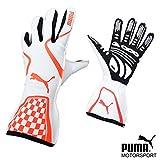 PUMA レーシンググローブ Kart Cat2 WHITE/RED サイズ8(XS)