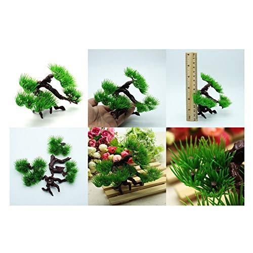 XuBa vistank decoreren simuleren bonsai plant aquatische kunstnagel dennenboom voor Aquarium