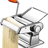 Macchina per Pasta Manuale,Acciaio Inossidabile Tagliapasta Professionale a Rullo per Pasta Manovella Sfogliatrice Tirapasta Sfogliatrice per Spaghetti Lasagne Tagliatelle