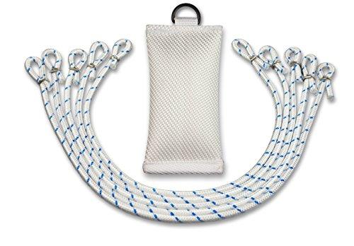 FBS Fahnengewicht Beschwerungssäckchen 400 Gramm für Fahnen I Fahnenmast mit Durchmesser bis 100 mm 5 Fahnenschlingen (Set)
