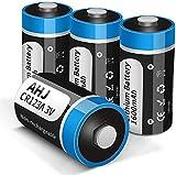 AHJ Pilas de litio CR123A de 3 V, paquete de 4 pilas CR17345 CR123, de alto rendimiento para detectores de humo, alarmas, linternas y mucho más, no aptas para Arlo