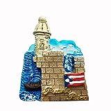 Time Traveler Go Puerto Rico USA Refrigerator Magnet Souvenir Gift 3D Home Kitchen Decoration Magnetic Sticker