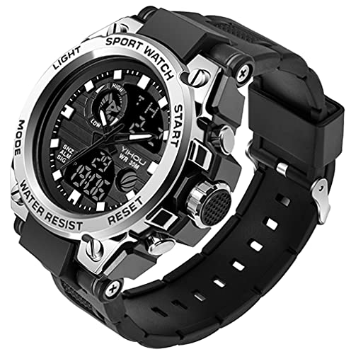electronic watches Men's Military Watch Outdoor Sports Electronic Watch Tactical Army Wristwatch LED Stopwatch Waterproof Digital Analog Watches
