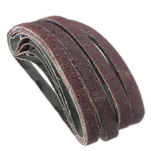 20 piezas para lijadora de banda de aire lijadora lijadora de 13 mm x 457 mm bandas de papel de grano mixto 40/60/80/120,60