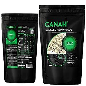Naturlich geschälte Hanfkerne von Canah 500g BIO