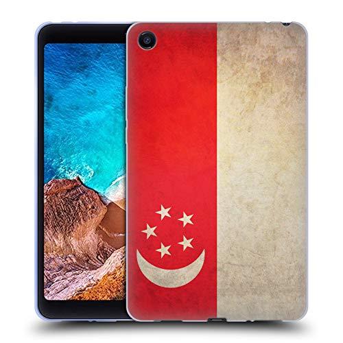 Head Case Designs Singapur De Singapur Banderas Vintage Carcasa de Gel de Silicona Compatible con Xiaomi Mi Pad 4