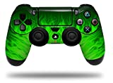 WraptorSkinz Skin compatible with Sony PS4 Dualshock Controller PlayStation 4 Original Slim and Pro Fire Green (CONTROLLER NOT INCLUDED)