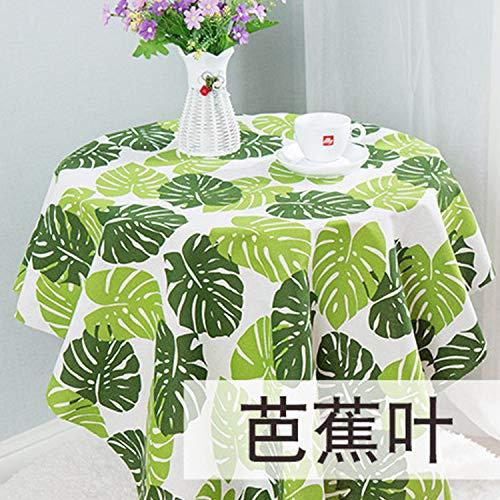 YCZZ ronde tafel katoen linnen printline tafelkleed tafelkleed