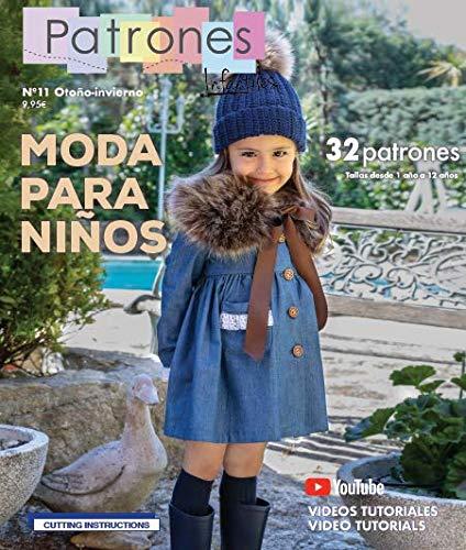Revista patrones infantiles nº 11, Patrones de costura infantil, Moda Otoño-Invierno, 32 modelos de patrones niña, niño, con tutoriales paso a paso en vídeo (Youtube).