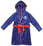 garçons officiel PSG PARIS SAINT GERMAIN à Capuche Robe de chambre peignoir tailles de 3 pour 12 An - Bleu, 5-6 Years